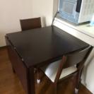 伸縮式ダイニングテーブル&イス