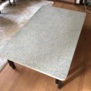 【国内生産】大理石調大きめ リビングローテーブル