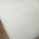 【訳あり無料】今月処分する白のダブルベッド【取置不可】