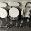 背もたれ付き折りたたみ椅子 3脚セット