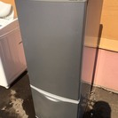 ☆444448 2ドア冷蔵庫 シルバー