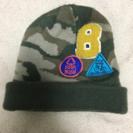 ワッペン付き迷彩柄ニット帽 サイズ48〜50