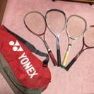 テニスバッグ+ラケット4本セット