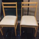 木製の白い椅子✨コンパクトです😊