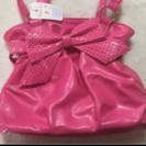 タグ付き未使用  お子様用ビビッドピンクのバッグ