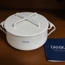 ★お値下げ! DANSK(ダンスク)ホーロー両手鍋18cm  白 ...