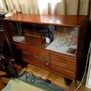 洋風 食器棚 サイドボード アンティーク調