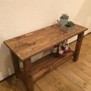 カフェテーブル ナチュラル家具 カントリーテーブル 箱ブーン5キロ...