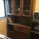食器棚 キッチンボード 炊飯器ボード34cm幅 レンジ台 細かい傷...