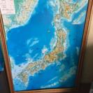 壁掛け立体日本地図