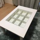 フランフラン購入ガラステーブル