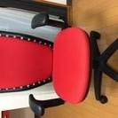 OA椅子/回転式椅子/ハイバックチェア/キャスター付き/赤色