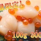 【特別大特価】激安!お刺身用天然ホタテ貝柱 100g3~5玉前後3...