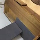 収納付き木製シングルベッド ※一部破損あり