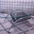 【終了】ニトリ 棚付 ガラス ローテーブル