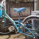 22インチ女の子用自転車(水色)