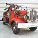 ブリキ風アンティーク消防自動車