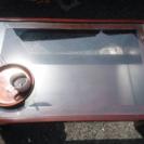 【中古】ガラス ローテーブル