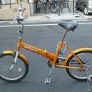 折りたたみ自転車 20インチ ミモレット オレンジ 5年使用 6000円