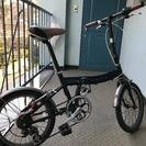 ローバーの折り畳み自転車。ハンドル、タイヤ、ブレーキなど交換済み