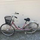 ミヤタ26インチ アルミフレーム中古自転車 ピンクメタ