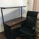 PCデスクと椅子(両方共キャスター付き)