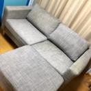 L型のソファー