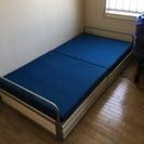 033166 ソファーになるシングルベッド 収納付 組立サービス
