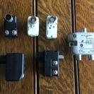 同軸ケーブルーF型コネクター変換、混合分波器をセットで