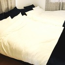 新古品セミダブルベッド 組み立て式 希望あれば布団セットも