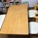 【美品】ダ交渉中イニングセット(テーブル、イス×2、ベンチ)