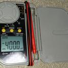 値下げしました。新品 OHMデジタルマルチテスター TDB-401