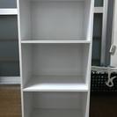 【三段カラーボックス(白)】42cm×89cm×29cm; 3個