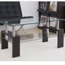 強化ガラス ダークブラウン北欧センターテーブル