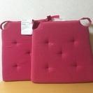IKEA JUSTINA チェアパッド ピンク 座布団クッション椅...
