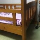 木材シングルベッドフレーム差し上げます