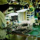 奥州市江刺区のケーブル加工作業