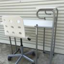 折りたたみテーブルと昇降式チェアセット