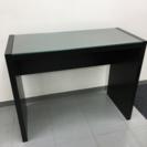 ドウシシャ シンプルスリムデスク 机 テーブル ガラステーブル