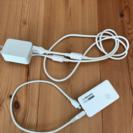 docomo充電器+携帯充電器