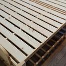 木製折りたたみベッド ダブル(ハイタイプ)