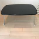 鏡面ローテーブル 黒