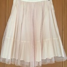 膝丈 ふんわり春スカート