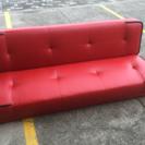 中古 『 赤のソファベッド 』
