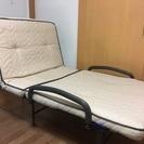 中古 ATEX(アテックス) 収納リクライニングベッド 折りたたみベッド