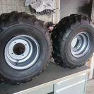 バギー用?スパイクタイヤ、鉄ホイール2本セット