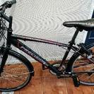 【お取引中】変速クロスバイク・かご、鍵付き【18日まで】