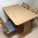 <無料>ダイニングテーブル+椅子 3脚 単身赴任終了の為、出品致します