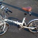 20インチ 折りたたみ 自転車 6速