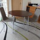 丸いダイニングテーブル チェア2脚 セット